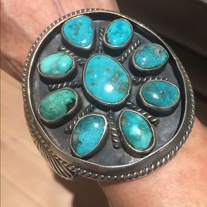 One of the Most Exquisite Turquoise Silver Cuffs